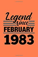 Legend Since February 1983 Notebook: Lined Journal - 6 x 9, 120 Pages, Affordable Gift, Coral Matte Finish