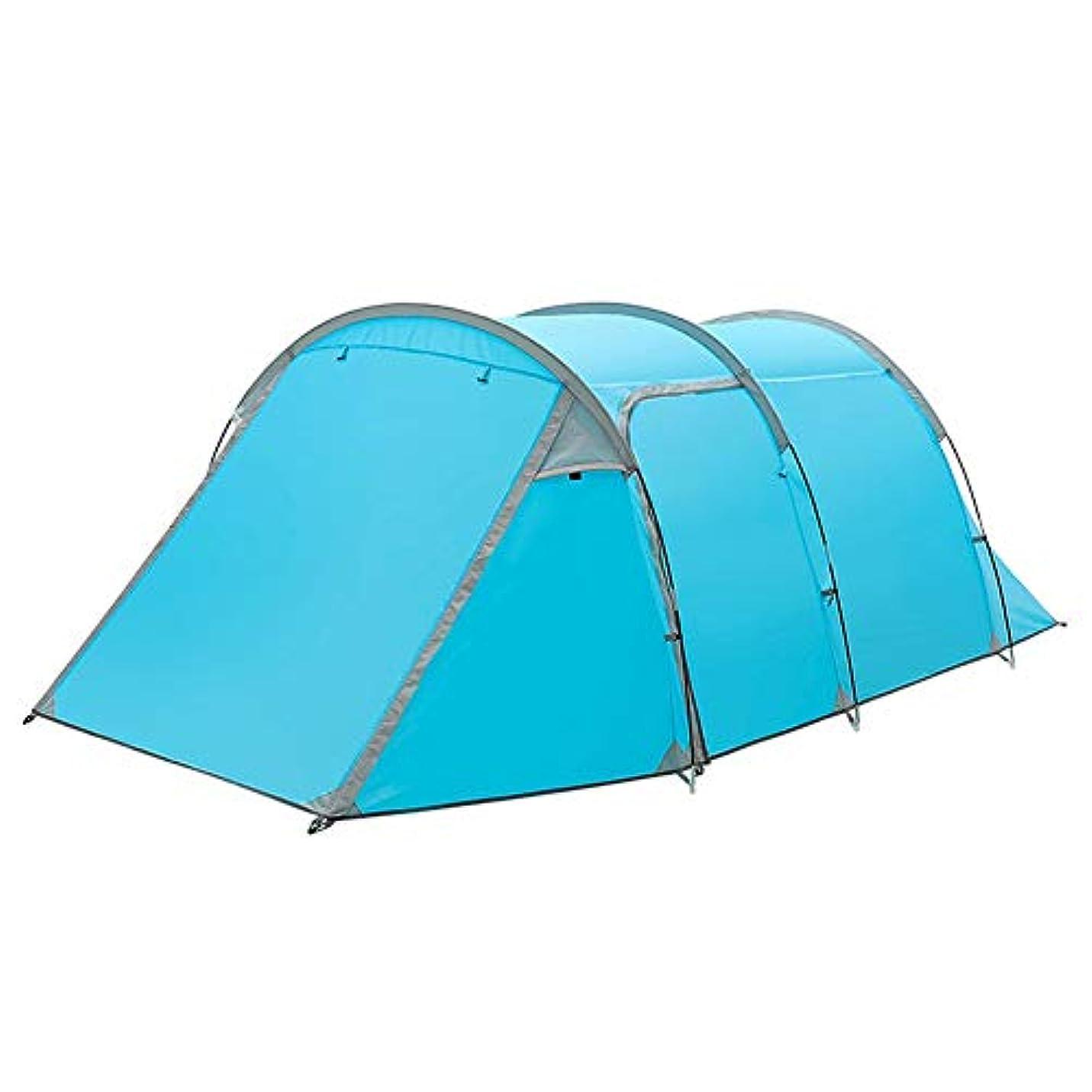 不十分なペダルメトロポリタン屋外テントダブルデッカー1部屋と1ホールテントキャンプ防雨3-4人のテント