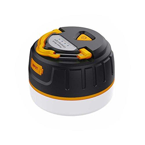 LEDランタン 充電式 オレンジ アウトドア キャンプ 防水 防塵 USB モバイルバッテリー ライト コンパクト 軽量 マグネット 折りたたみ 屋外 おしゃれ 明るい 5200mAh 【Provare】