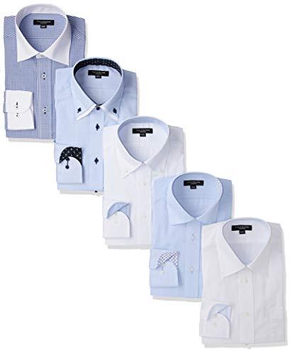 [タカキュー] 長袖 ワイシャツ 形態安定 レギュラーフィット ビジネスシャツ メンズシャツ 5点セット 02 日本 M:39-84 (日本サイズM相当)