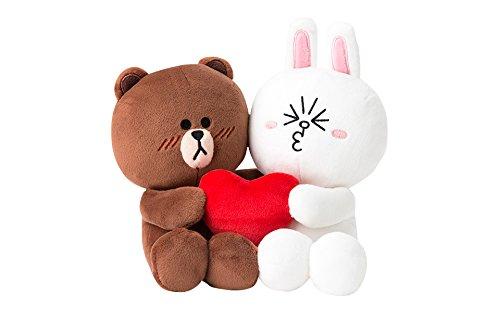 LINE FRIENDS カップルぬいぐるみ(20cm) ブラウン&コニー