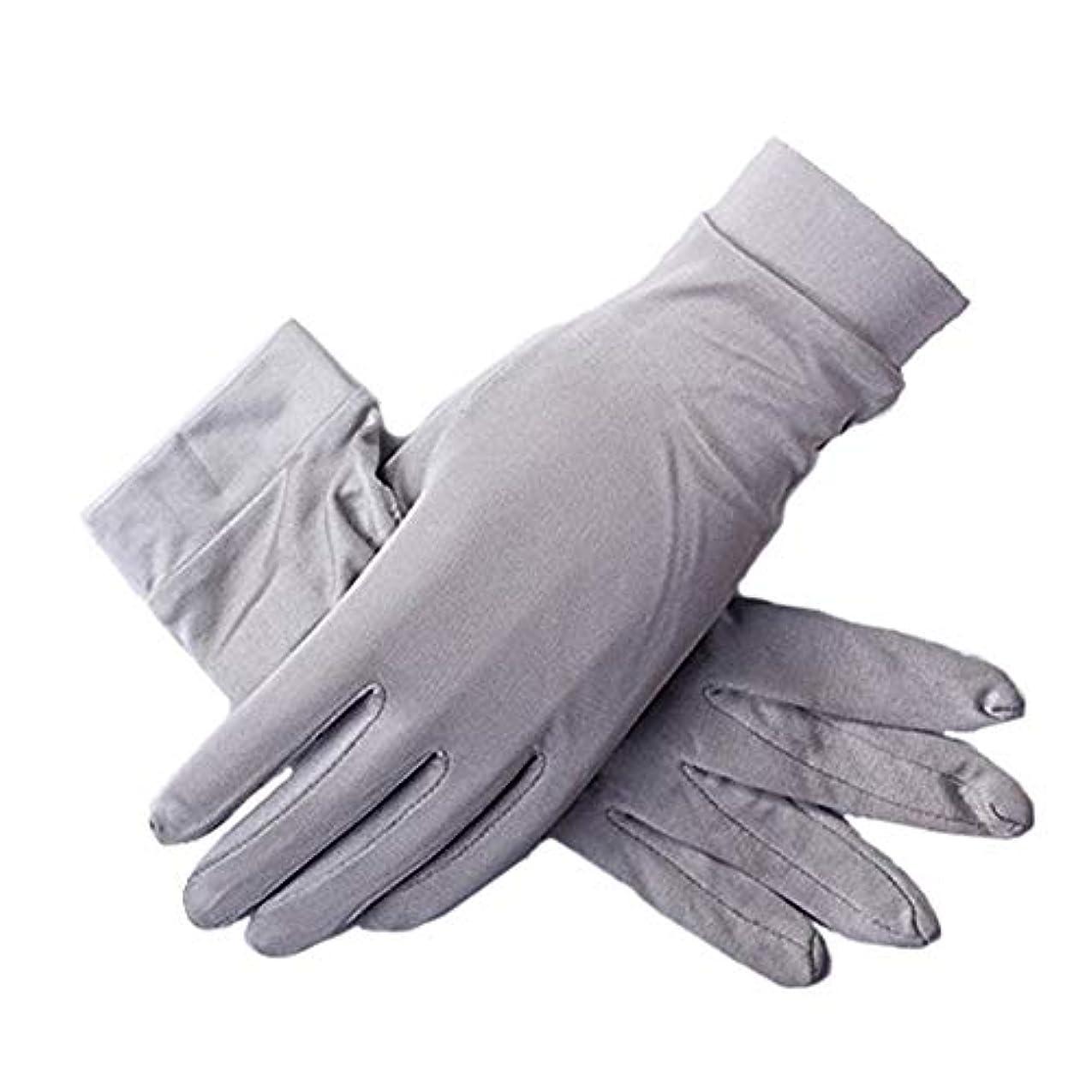 禁じる有利明確にシルク手袋手袋 シルク uvカット おやすみ 手触りが良い 紫外線 日焼け防止 手荒い 保湿 夏 ハンド ケア レディースメンズ