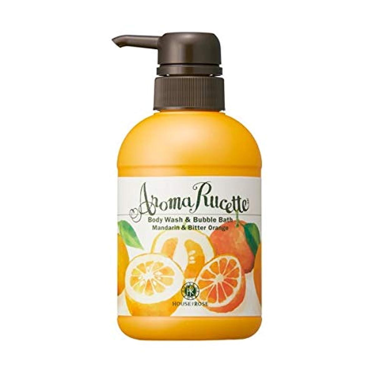 植生誇張サーバHOUSE OF ROSE(ハウスオブローゼ) ハウスオブローゼ/アロマルセット ボディウォッシュ&バブルバス MD&BO(マンダリン&ビターオレンジの香り)350mL