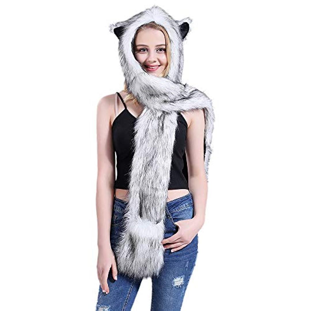 定期的に俳句アイスクリーム足で動物の帽子フードスカーフミトン手袋手袋大人の子供のための冬