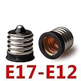 口金変換アダプター E17-E12ソケット口金変換アダプタE17からE12 電球ソケット
