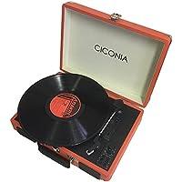 チコニア クラシカルレコードプレーヤー(オレンジ)CICONIA TY-1706OR