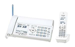 パナソニック デジタルコードレスFAX 子機1台付き 1.9GHz DECT準拠方式 ホワイト KX-PD503DL-W