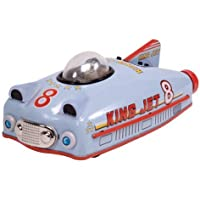 KING JET 8 CAR retro space age BLUE TIN TOY Schylling by Schylling [並行輸入品]