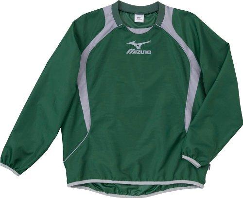 (ミズノ)MIZUNO フットボール ウインドブレーカーシャツ 62WS270 33 グリーン×グレー O