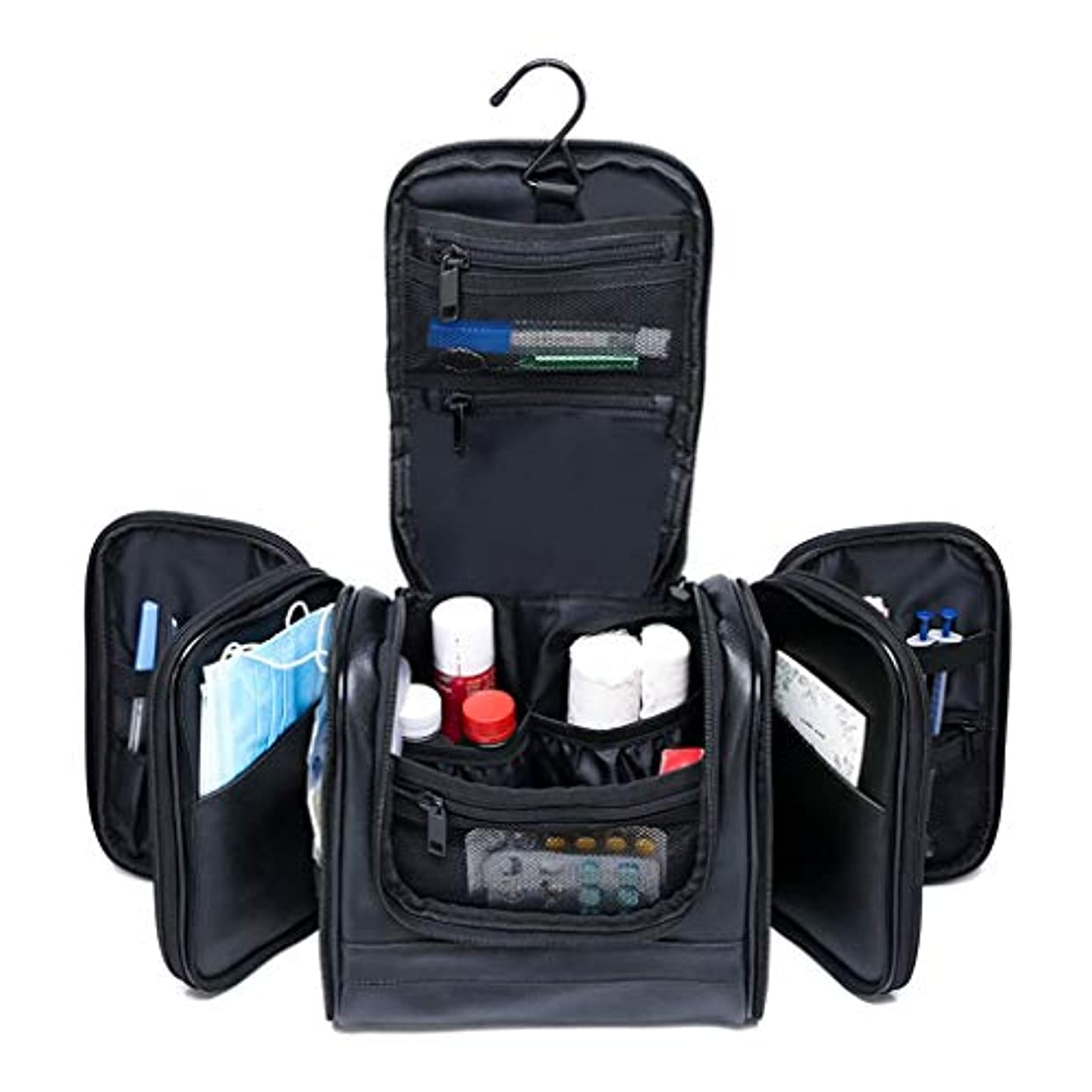 ご予約穏やかなバクテリア応急処置キット 旅行医療キット旅行緊急キット応急処置キット多機能ポータブルデザイン多層コンパートメント大容量黒 SJJOZZ