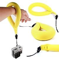軽量防水ネオプレンカメラFloat /フローティング手首ストラップ黄色でfor Olympus tg-tracker