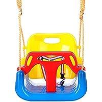 【LeRight】 ブランコ 背もたれタイプ ( イエロー × ブルー ) キッズ 子供 自宅 家庭用 庭 どこでも 簡単設置 遊具 遊び 室内 屋外 DIY 日曜大工