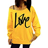 Morbuy Women's Casual Sweatshirt, Fashion Ladies Tops Crewneck Blouse Long Sleeve Sport T-Shirt Pullover Hoodie Without Hood Clothes