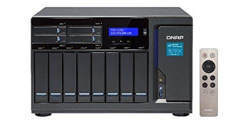 Qnap TVS-1282-i7-64G-450W-US High Performance 12 bay (8+4) NAS/iSCSI IP-SAN, Intel Skylake Core i7-6700 3.4 GHz Quad Core, 32GB RAM, 10G-ready, 450W power supply [並行輸入品]