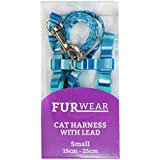 Furwear Fashion Cat Harness with Lead, Small, Blue