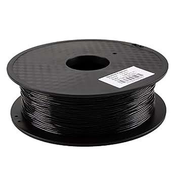HICTOP 3Dプリンター用 ゴム フィラメント 1.75mm 0.8KG 「7色選択可」 (ブラック)