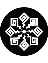 家紋シール 稲妻車紋 布タイプ 直径40mm 6枚セット NS4-0119