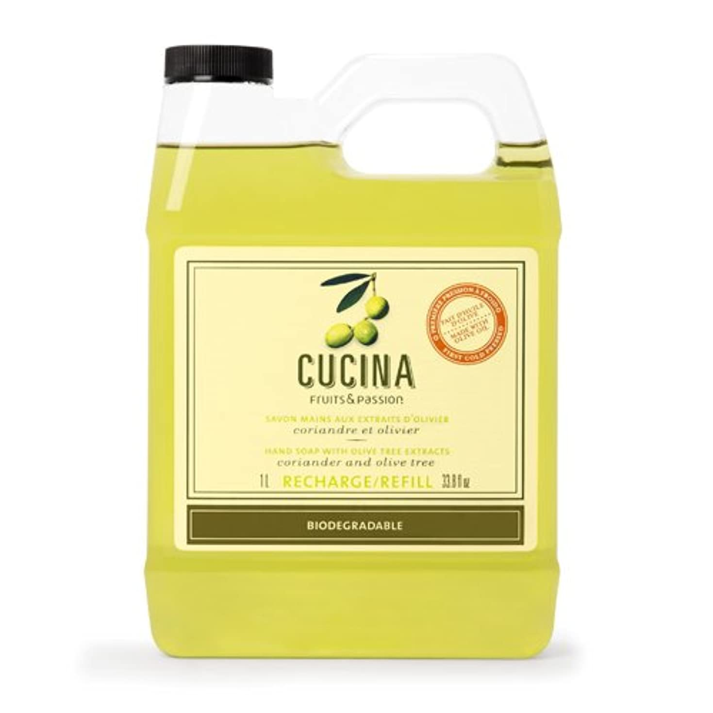 荷物あごありふれたCucina Coriander and Olive Tree 33.8 oz Purifying Hand Wash Refill by Cucina [並行輸入品]