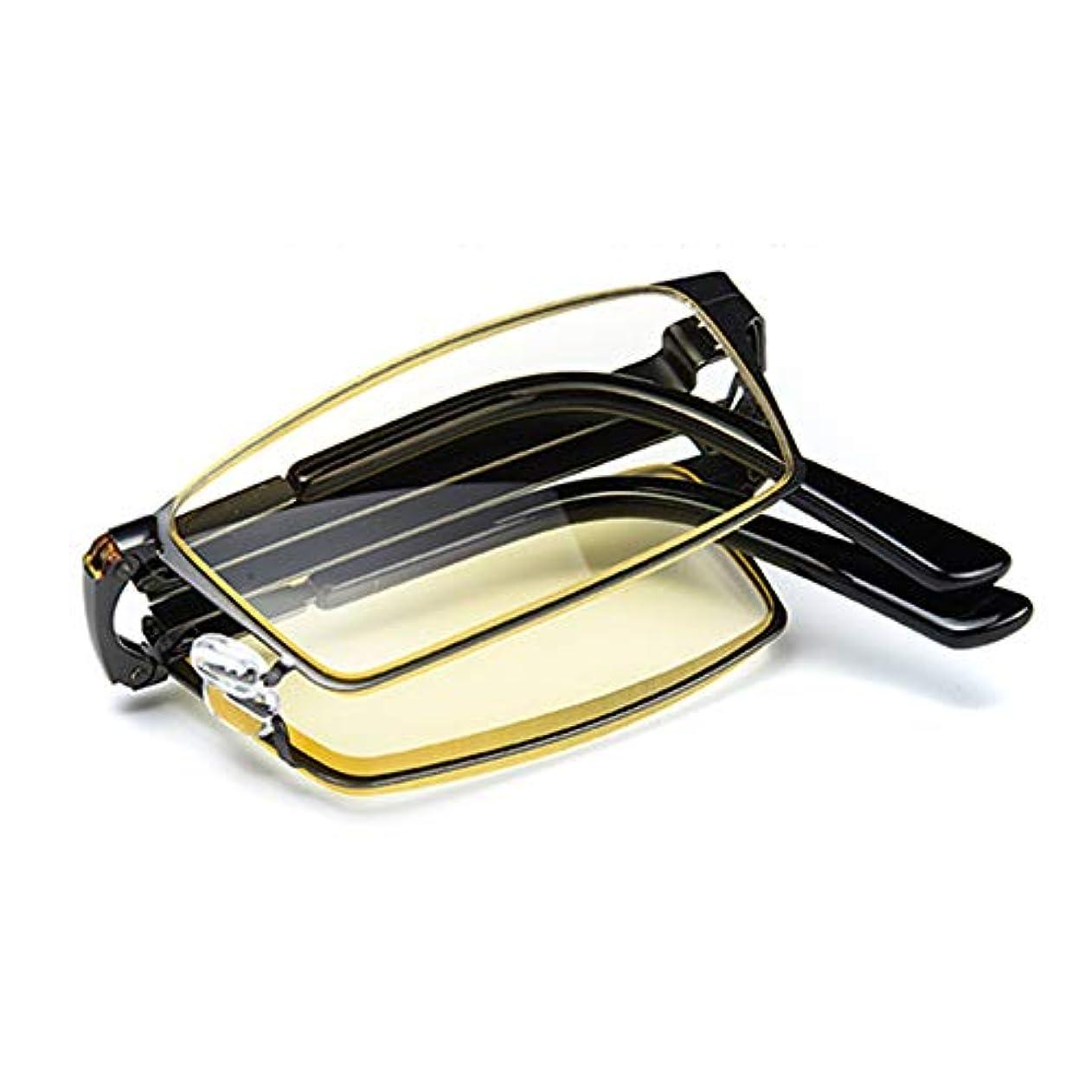 折りたたみ式アンチブルー老眼鏡、超軽量高精細ライトブラウンレンズ老眼鏡、抗UV老眼鏡、両親最高の贈り物ZDDAB