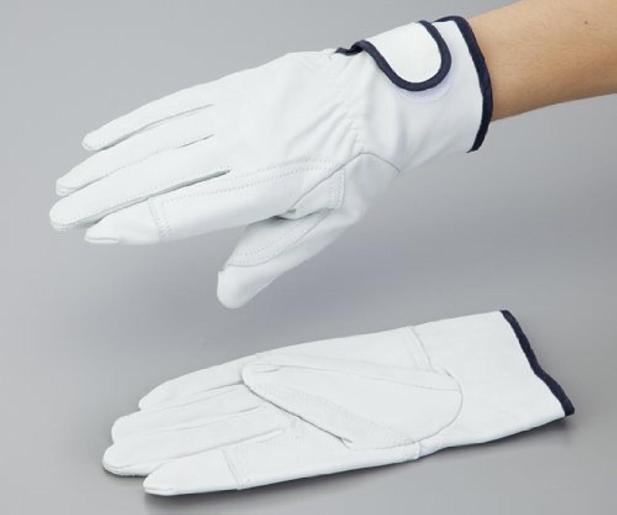 雪だるまを作る百年探す2-2384-01牛表革手袋手首マジックファスナー付No.706白215mmM
