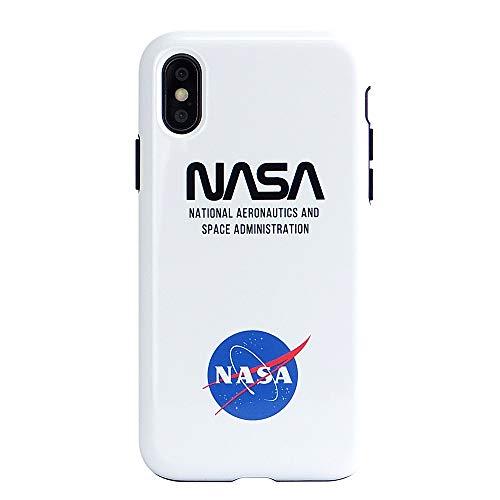 iPhoneXS iPhoneケース (ハードケース) [耐衝撃/薄型/全面印刷] NASA LOGO-ICON CollaBon (iPhoneX対応)