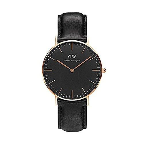 CLASSIC BLACK新品Daniel Wellington ダニエル ウェリントンSHEFFIELD レディース腕時計 クラッシー 本革  腕時計 ピンクゴールド 36mm? [並行輸入品]