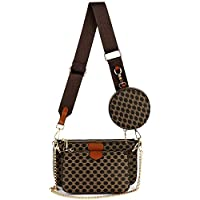 Small Checkered Crossbody Bag Luxury Designer Shoulder Chain Purse with Strap Including 3 Size Bag