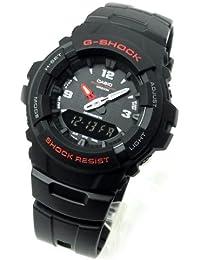 CASIO カシオ G-SHOCK Gショック ジーショック G-100-1B 海外 アナログ デジタル コンビネーション ELバックライト 搭載 メンズ 腕時計 時計 【逆輸入品】