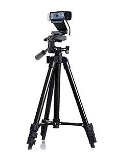 106cm カメラ三脚 用 ウェブカム Logicool C930e C930 C920 C920r C920t C615-黒