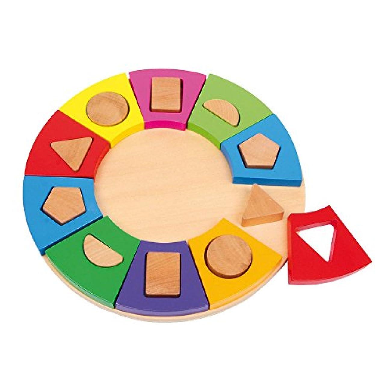 動かないあなたは付き添い人Legler Shape-Sorting Circle Preschool Learning Toy