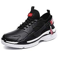 [ウェッション] WESHION メンズ スニーカー ランニングシューズ レースアップ スポーツシューズ ジョギング 運動靴 通気 軽量 3カラー 24.5~27.5cm(ブラック、25.0cm)