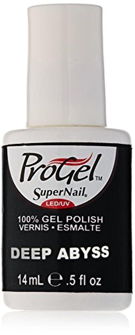 毒液従うスパンSuperNail ProGel Gel Polish - Deep Abyss - 0.5oz/14ml