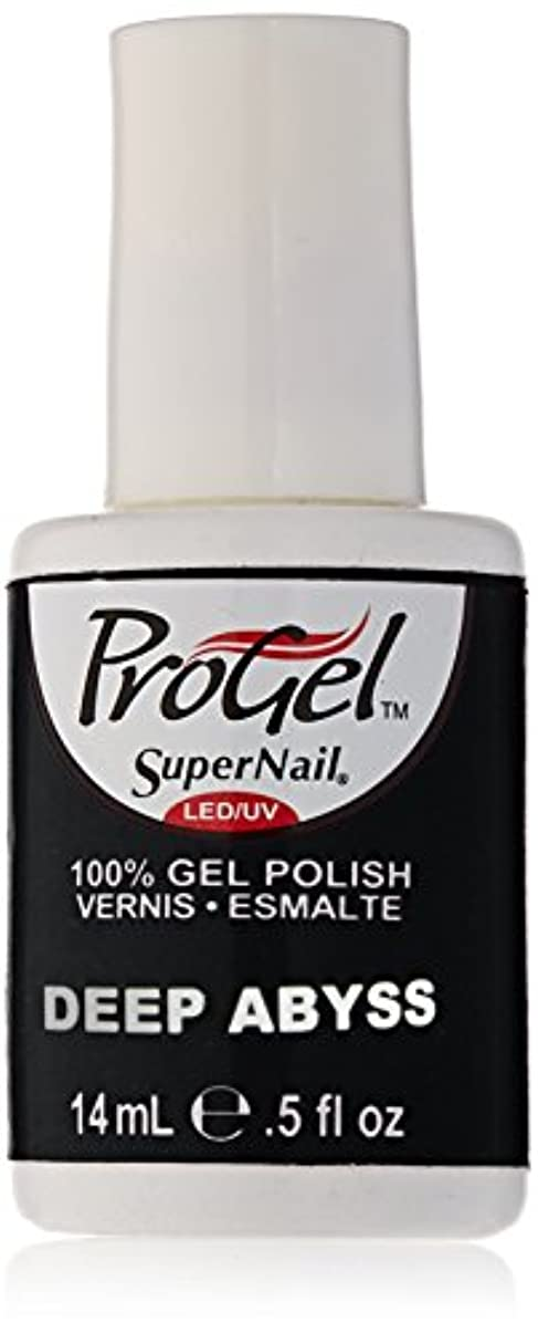 ユーモア足湖SuperNail ProGel Gel Polish - Deep Abyss - 0.5oz/14ml