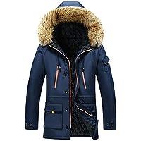 Surprise S Winter Mens Mid Long Jackets Mens Cotton Warm Parkas Collar Windbreaker Jackets