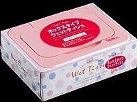 ノンアルコール・無香料 お肌に優しい、柔らか仕上げ サンプライム BOXウェットティッシュ 50枚 100入(合せ)