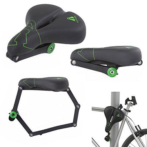 seatylock快適Heavy Dutyプレミアム安全ドリルResistantハイブリッドサドルロック盗難防止自転車バイクのサドル、滑らかな走行を最大の保護