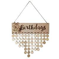 Trendyest 壁掛けカレンダー 木製 誕生日 大切な日 記念日 壁飾り 部屋装飾 プレゼント ご家族 ご友達
