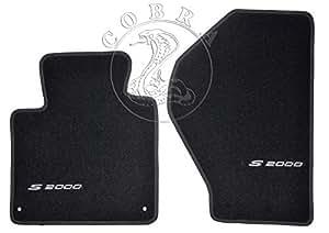 Cobra Auto Accessories フロアマットカーペット + S2000 ロゴ ホンダ S2000 99 2000 01 02 03 04 05 06 07 08 2009に適合