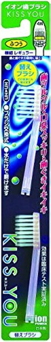 ダニ何よりも犬フクバデンタル キスユー イオン歯ブラシ 極細細毛 ふつう 替えブラシ 2本×120点セット
