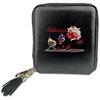 Haha69 ハハ69 スティーブン ユニバース ルビー クリスマス ギフト デザイン スクエアウォレット 短財布 通勤 実用的 Black