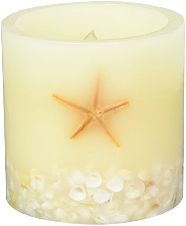 火曜日クロス太字LED Candle Flameless Candle電子キャンドルランプ屋外ホームパーティー装飾Seastar、シェルFlameless LED Pillar Candle withタイマー、電池式。 4