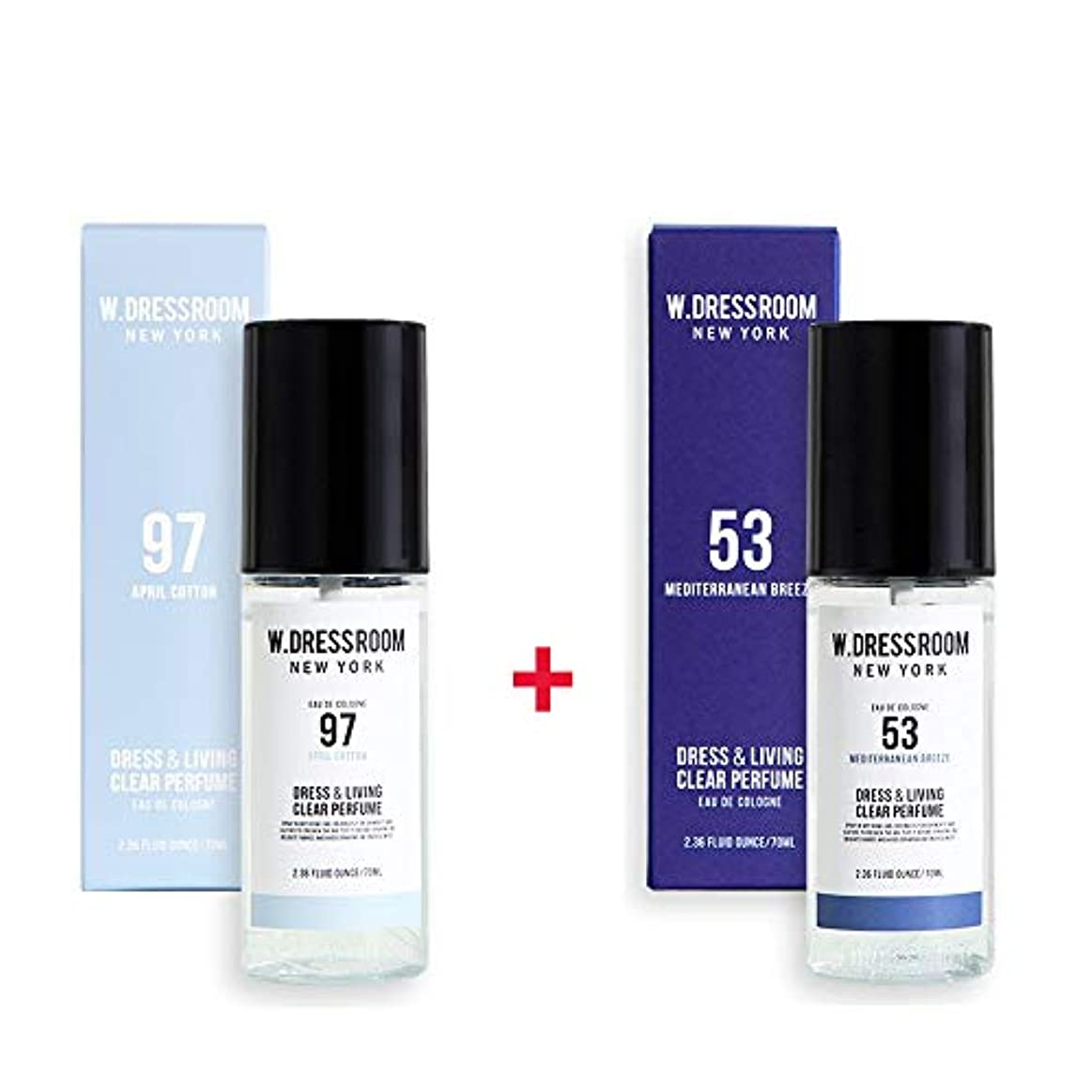 従う戦い週末W.DRESSROOM Dress & Living Clear Perfume 70ml (No 97 April Cotton)+(No 53 Mediterranean Breeze)