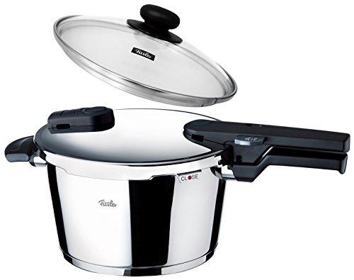 フィスラー圧力鍋 IH対応 4.5L 鍋蓋付 ビタクイックモノ レシピブック付き 600300-04-004A