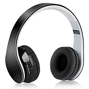 Dylan Bluetooth ヘッドホン 4.1 スステレオ オンイヤー 折り畳み式 ブラック