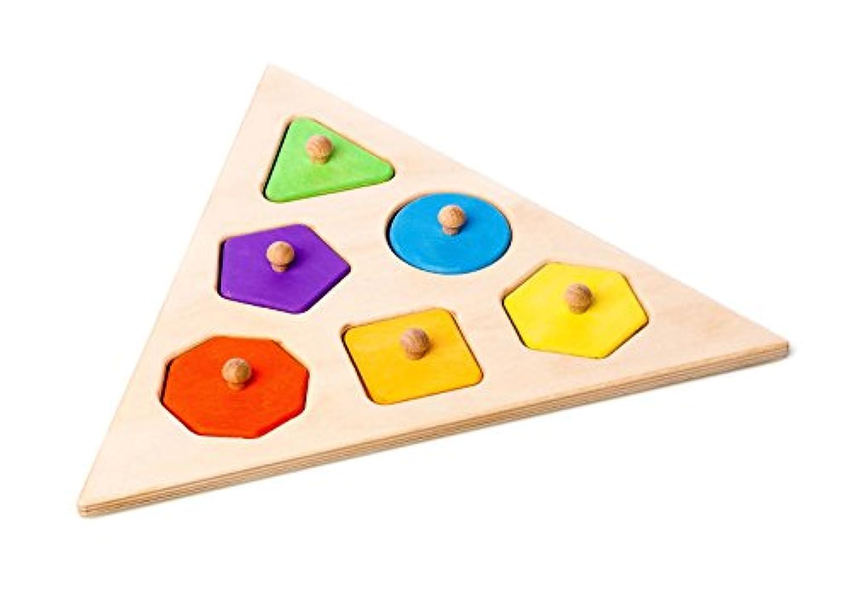 手作り木製幾何図形パズル( Made in Europe )