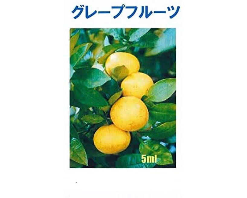 飽和する薄汚いパウダーアロマオイル グレープフルーツ 5ml エッセンシャルオイル 100%天然成分