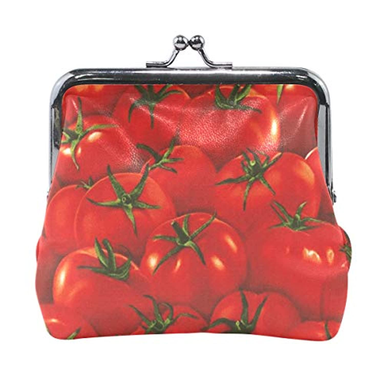 がま口 小銭入れ 財布 赤いトマト コインケース レザー製 丸形 軽量 人気 おしゃれ プレゼント ギフト 雑貨