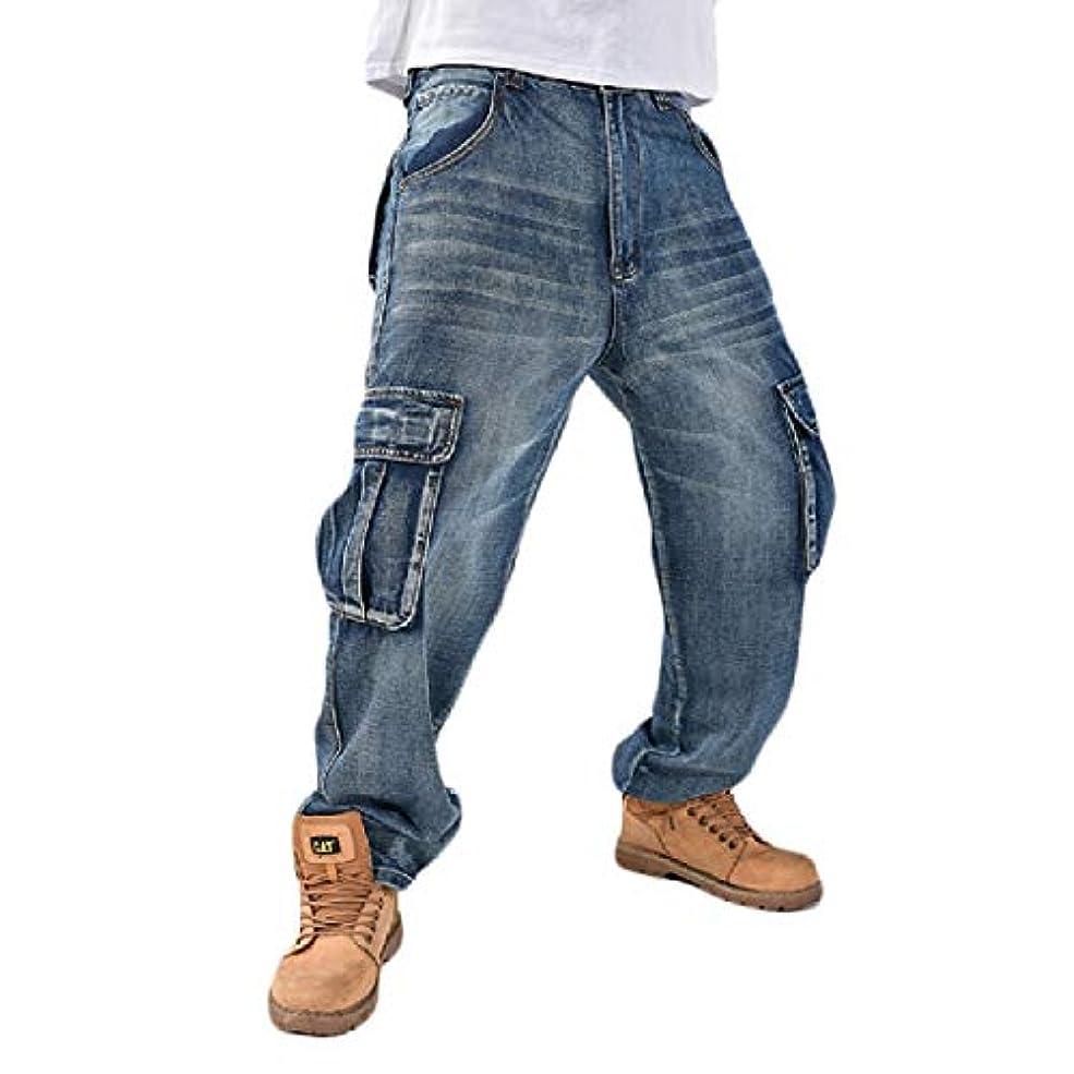 肝保安検索エンジンマーケティングFenshuda メンズヒップホップマルチポケットプラスサイズリラックスフィットアンクルジーンズ