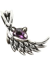 ジナブリング (JINA BRING) 守護天使の翼 オニキス ジルコニア シルバー925 グロウジルコニア ペンダント