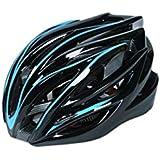 Osize メンズレディースワンピースヘルメット調節自転車ヘルメットポーラスマウンテンバイクヘルメット(ブルー+ブラック)